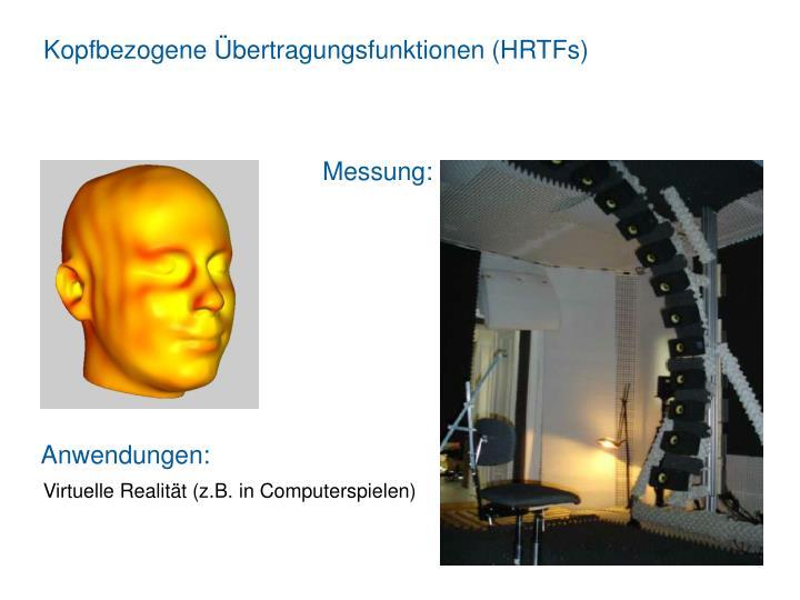 Kopfbezogene Übertragungsfunktionen (HRTFs)