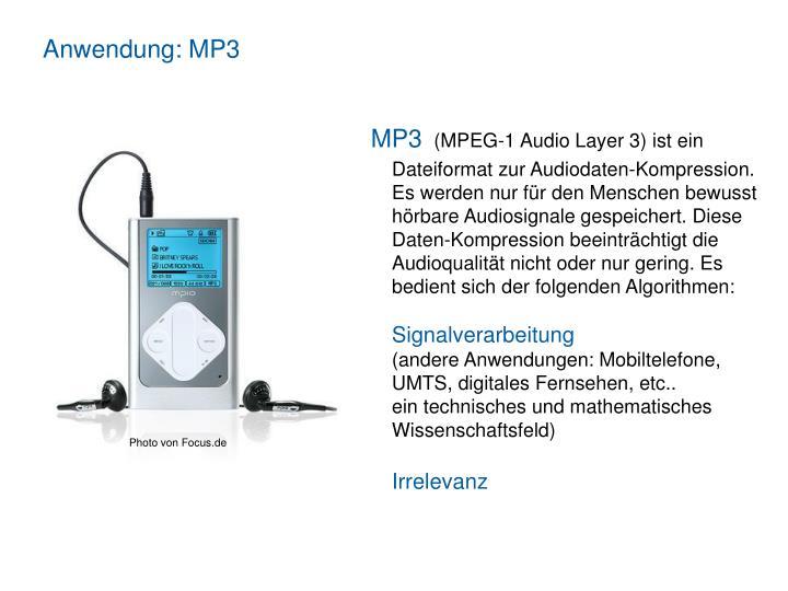 Anwendung: MP3