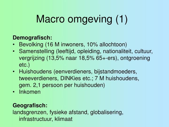 Macro omgeving (1)
