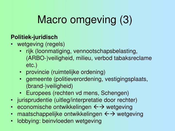 Macro omgeving (3)