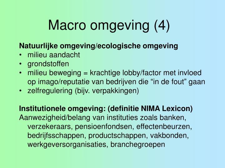Macro omgeving (4)