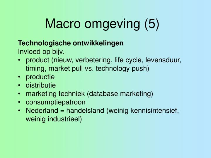 Macro omgeving (5)