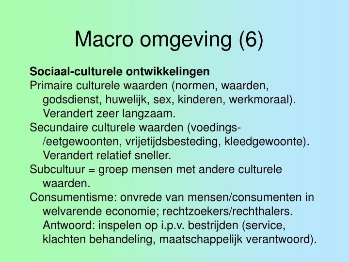 Macro omgeving (6)