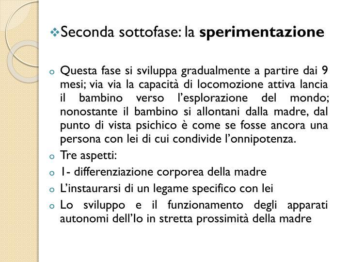 Seconda sottofase: la