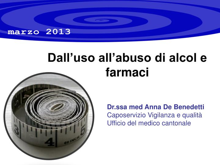Dall uso all abuso di alcol e farmaci
