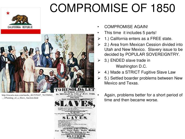 reasons compromise was impossible in 1860 One hundred fifty years after the civil war began, we're still fighting over its meaning.