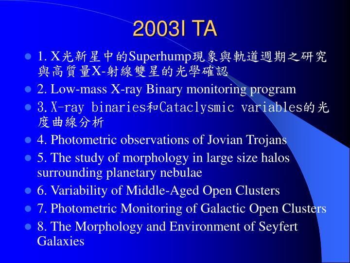 2003I TA