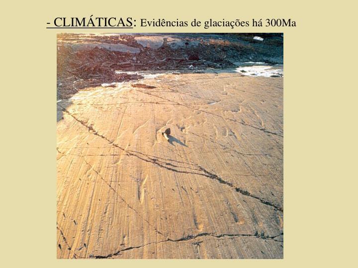 - CLIMÁTICAS