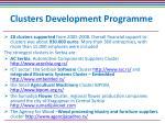 clusters development programme