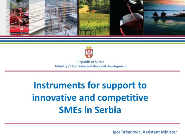 I nstruments for support to innovative and competitive smes in serbia