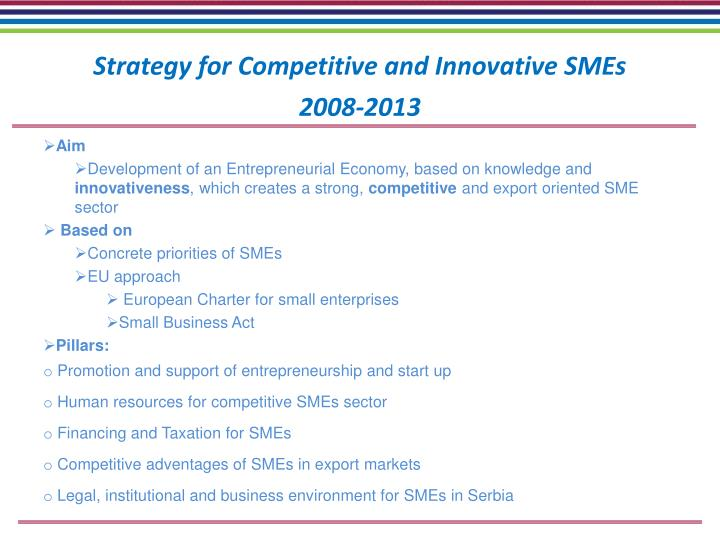Strategy for Competitive and Innovative SMEs