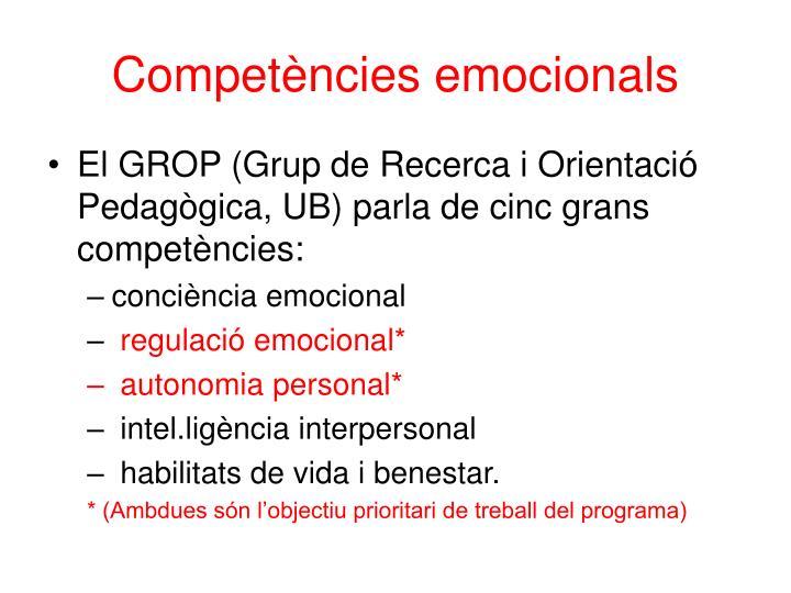 Competències emocionals