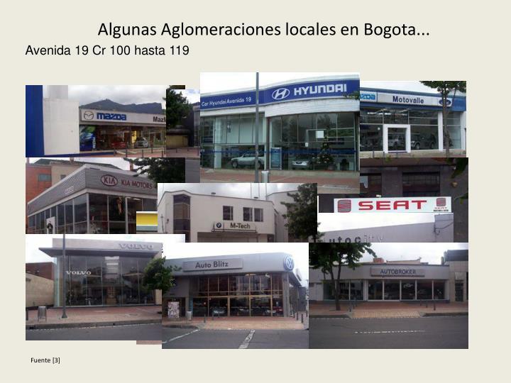 Algunas Aglomeraciones locales en