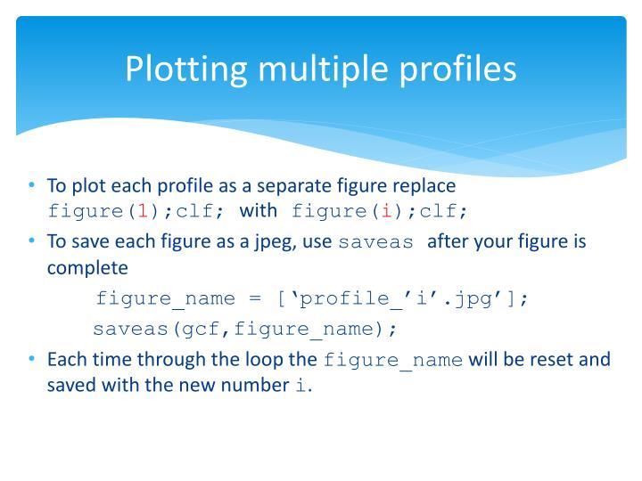 Plotting multiple profiles