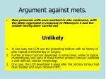 argument against mets