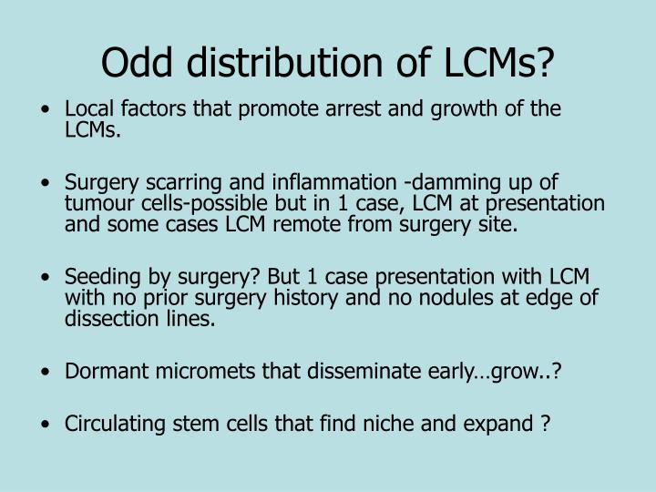 Odd distribution of LCMs?