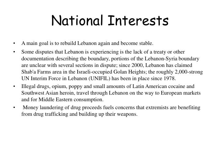 National Interests
