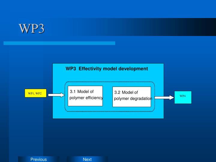 WP3  Effectivity model development