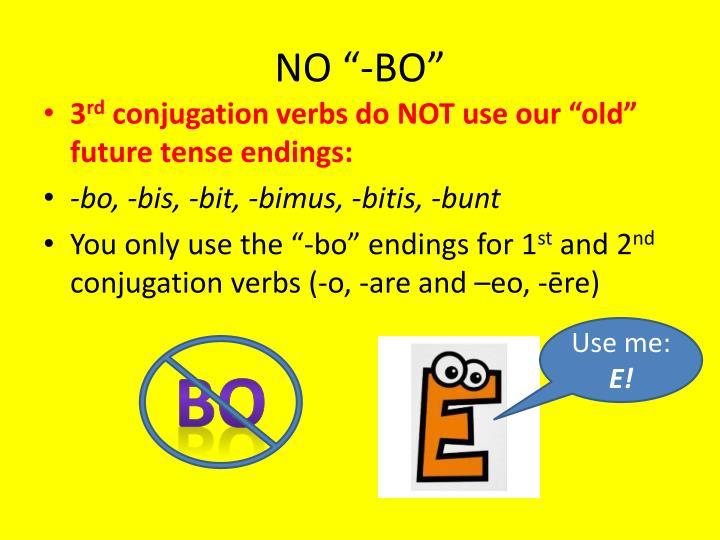 "NO ""-BO"""
