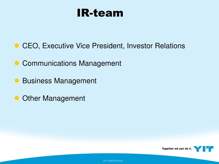 IR-team