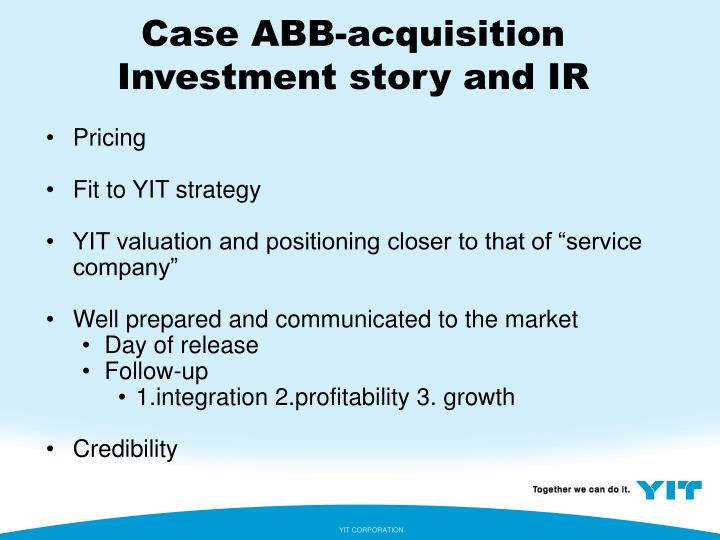 Case ABB-acquisition