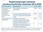 regionaalarengut toetavad struktuurivahendite meetmed 2014 2020