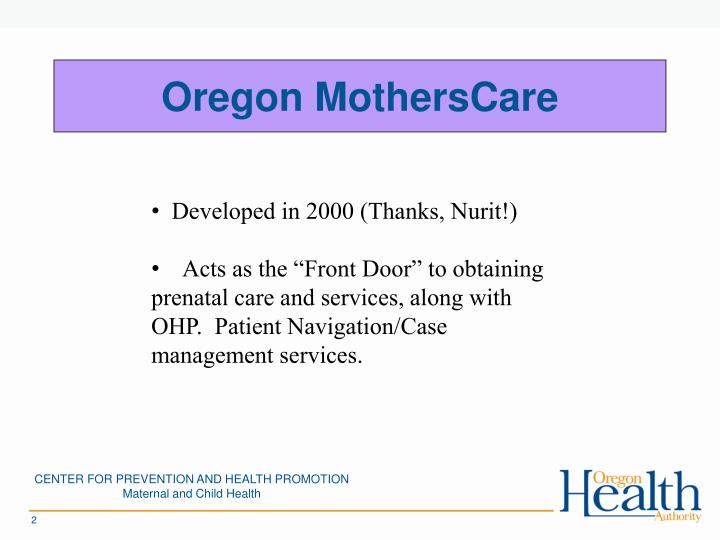 Oregon MothersCare