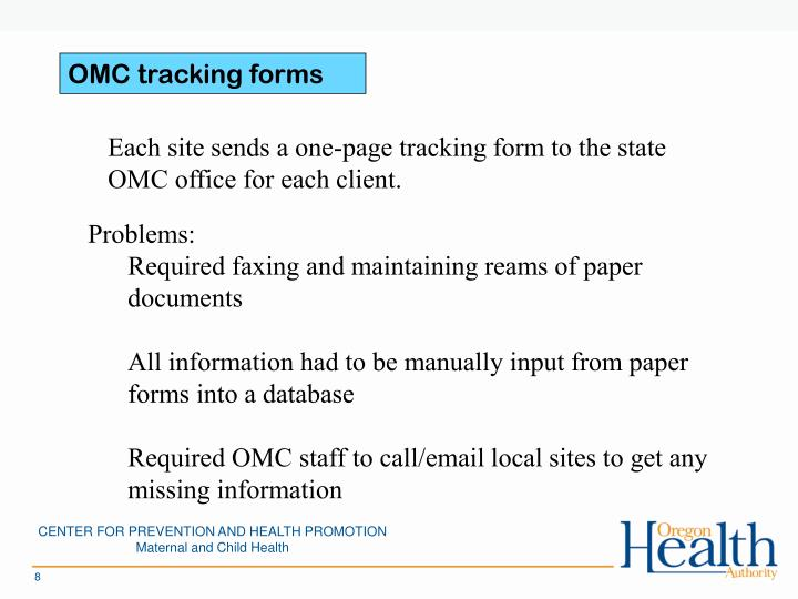 OMC tracking forms