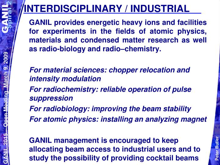 INTERDISCIPLINARY / INDUSTRIAL