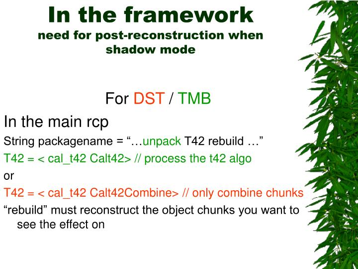 In the framework