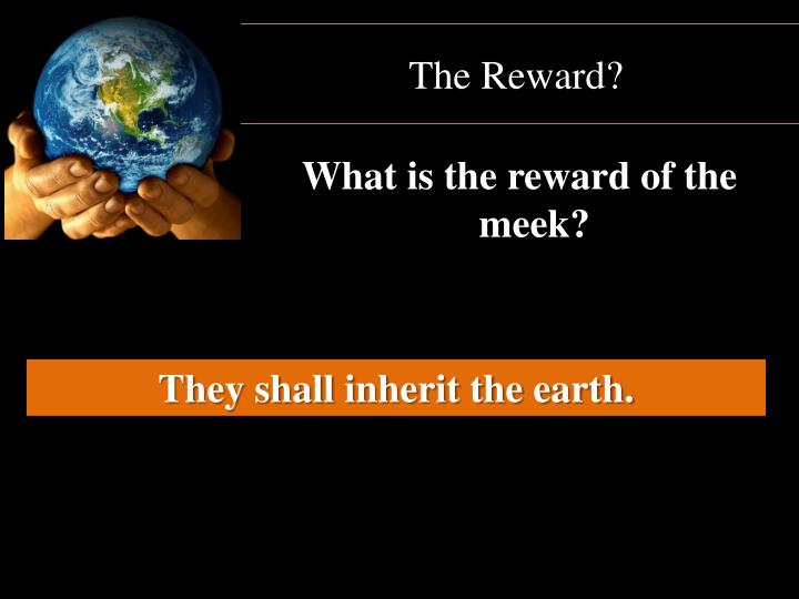 The Reward?