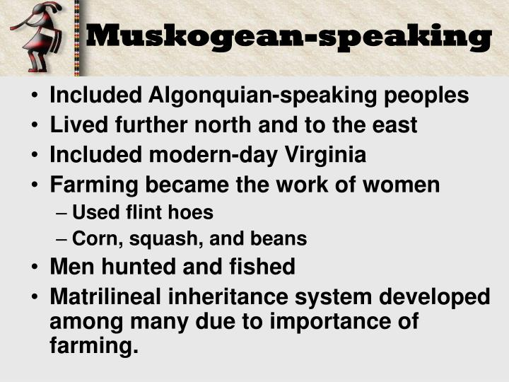 Muskogean-speaking