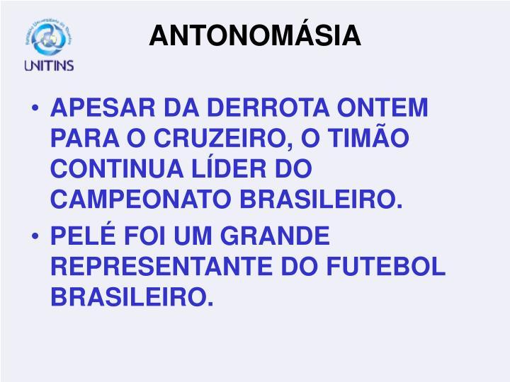 APESAR DA DERROTA ONTEM PARA O CRUZEIRO, O TIMÃO CONTINUA LÍDER DO CAMPEONATO BRASILEIRO.