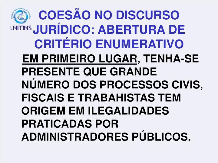 EM PRIMEIRO LUGAR