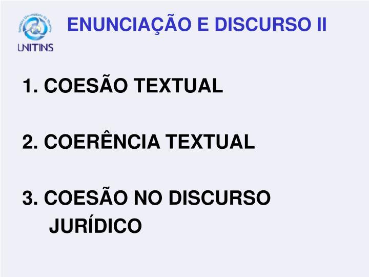 1. COESÃO TEXTUAL