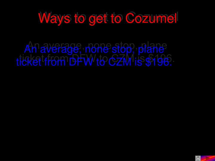 Ways to get to Cozumel