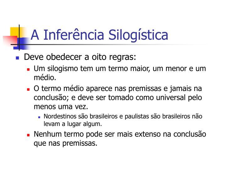 A Inferência Silogística