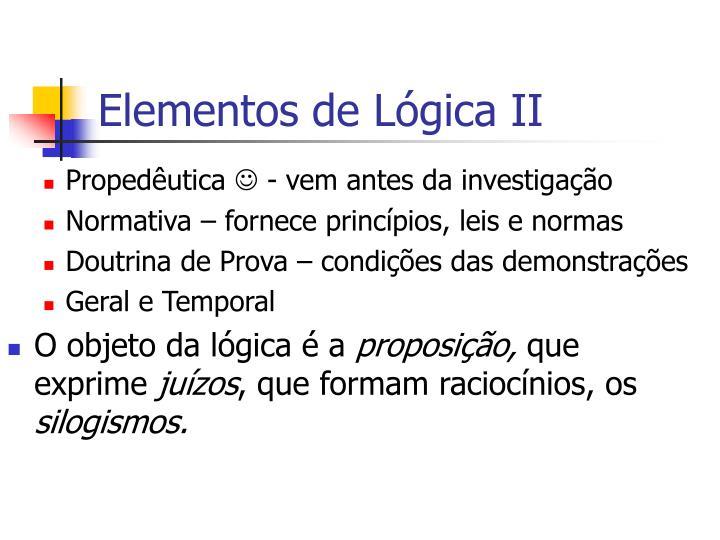 Elementos de Lógica II