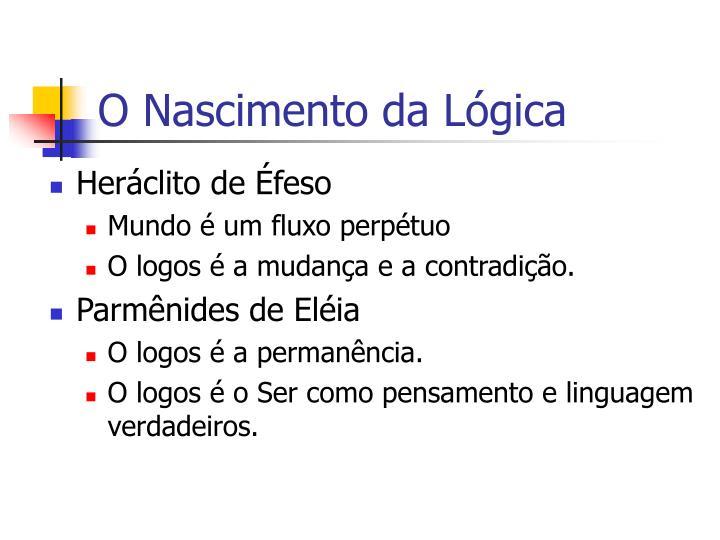 O Nascimento da Lógica
