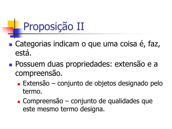 Proposição II