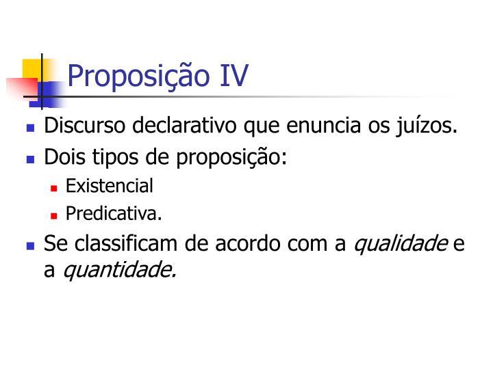 Proposição IV
