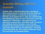 scientific writing hrp 214 example
