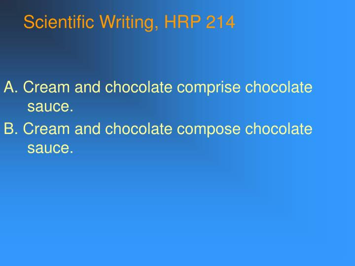 Scientific writing hrp 214