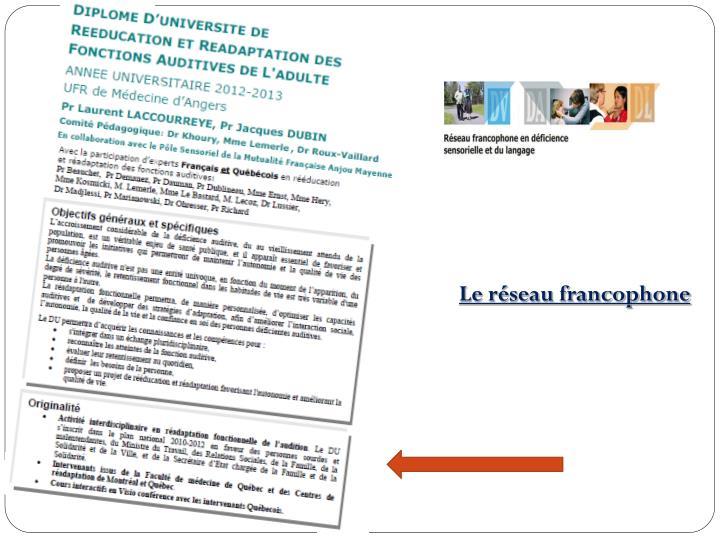 Le réseau francophone