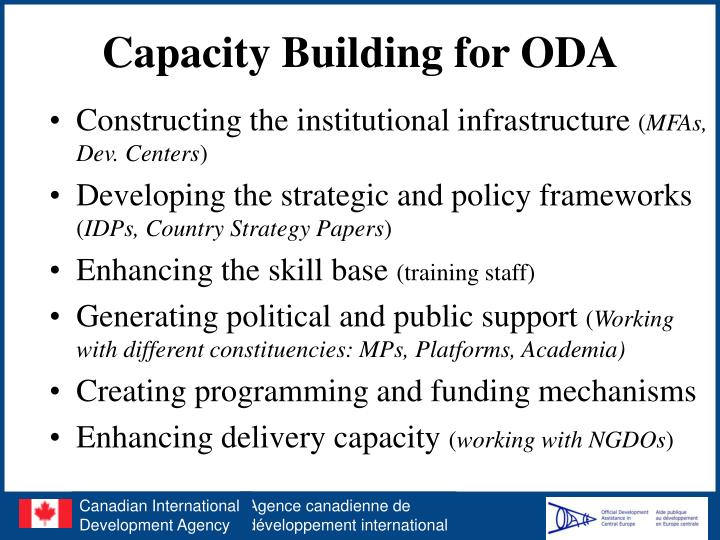 Capacity building for oda