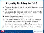 capacity building for oda