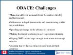 odace challenges