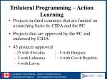 trilateral programming action learning