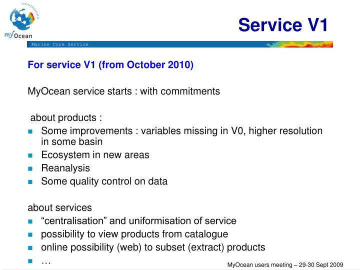 Service V1