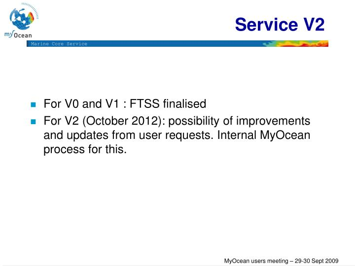 Service V2